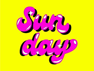 𝓢𝓾𝓷𝓭𝓪𝔂 🐛 illustrator graphic design typography typo branding logo illustration design roccano