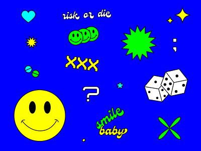 𝓡𝓲𝓼𝓴 𝓸𝓻 𝓓𝓲𝓮 🙂 nft art typography typo graphic design vector branding logo illustration design roccano
