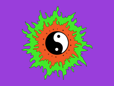 𝓥𝓲𝓿𝓲 𝓮 𝓵𝓪𝓼𝓬𝓲𝓪 𝓿𝓲𝓿𝓮𝓻𝓮 ☯ digital art typography quote life rave trip acid colors illustrator graphic design art vector branding logo illustration design roccano