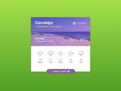 Weather Corralejo ui nature paradise surf holiday summer espana canary island canaries fuerteventura widget weather