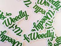 Weedly Sticker