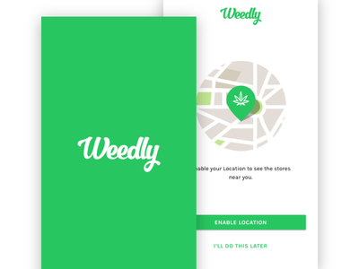 Weedly Android App cannasib thc marijuana weed ui ux android app weedly