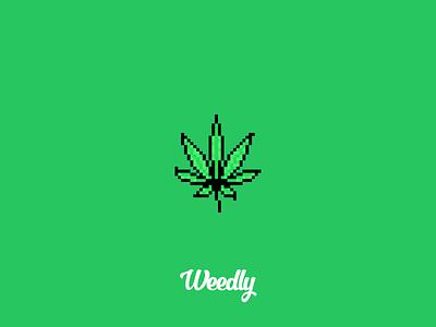 Pixel Art #01 thc cannabis marijuana leaf weed gaming 80s retro pixelart weedlypixel weedlyart weedlywtf