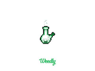 Pixel Art #2 weedly weed cannabis marijuana bong pixel pixelart icon illustration design roccano