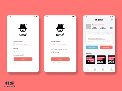 Bima Tri Apps Redesign tri bima mobile ux ui homepage design app