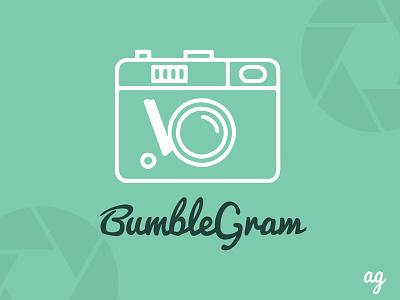 Bumblegram Logo app green camera logo