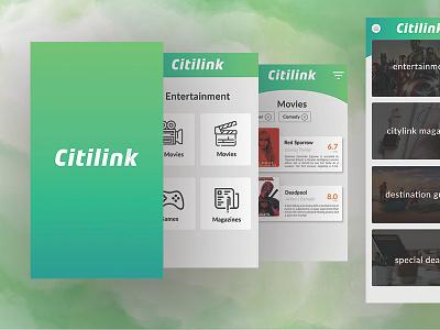 Citilink Inflight Apps app ux ui design green