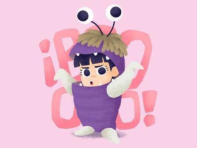 Boo - Monster.Inc monster boo monsters inc cartoon pixar art disney chalk pixar kids illustration for children gsus art illustration