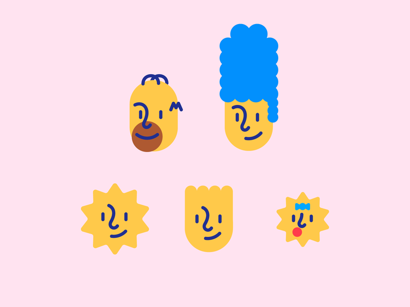 The Simpsons iconography popart popculture the simpsons icon illustration
