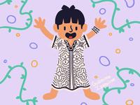 Shipibo-Conibo art illustration illustration for children iquitos loreto culture estate peruvian peru shipibo