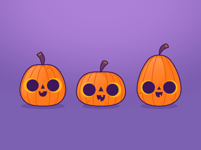 Little Pumpkins purple orange illustration for kids halloween pumpkins illustration friends