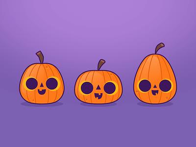 Little Pumpkins purple orange illustration for kids halloween pumpkins illustration friends