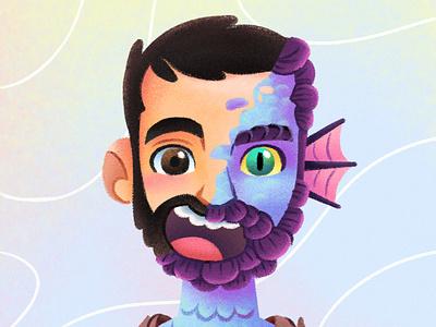 Silenzio Bruno freelance illustrator pixar kids chalk illustration for children art illustration