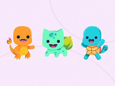 Pokémon First Generation illustration for children character lima peru illustrator art illustration freelance pokemon
