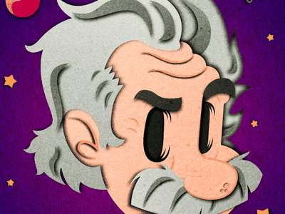 Albert Einstein peru lima vectorial gsus paper effect illustration science genius relativity albert einstein