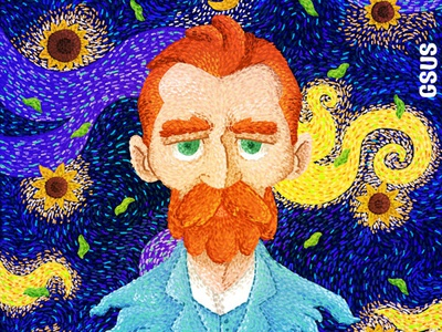 Van Gogh draw kids genius gsus paint art van gogh