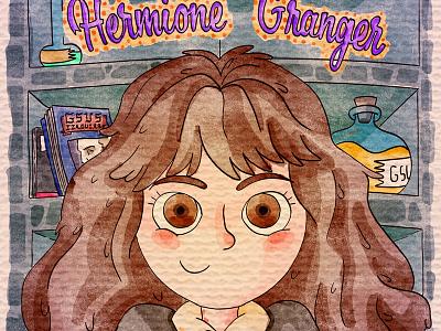 Hermione Granger illustration gsus art illustration for children