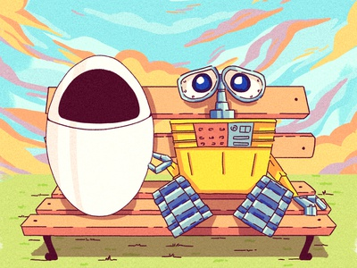 Wall E peru lima disney pixar art pixar design chalk kids illustration for children gsus art illustration