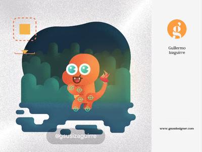 Charmmander pokemon after effects motiongraphics illustration for children gsus art illustration