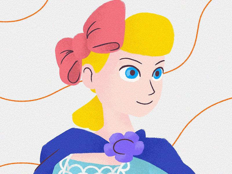 Betty disney pixar betty illustration for children gsus art illustration