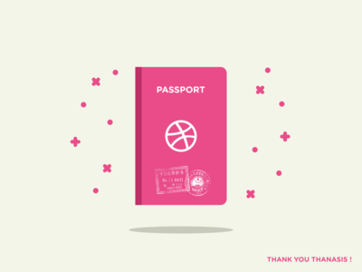 Dribbble Passport thank you yay welcome customs stamp invite dribbble passport