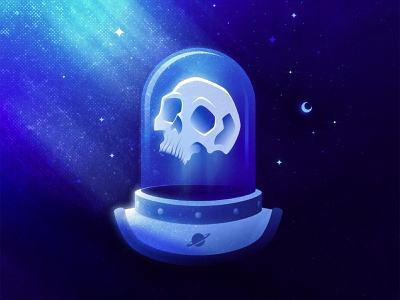 THE LAST ASTRONAUT 💀✨ horror freelance illustrator spaceman icons cosmic space outerspace alien astronaut skulls skull spacex nasa outer space occult adobe illustrator illustrator icon illustration san diego