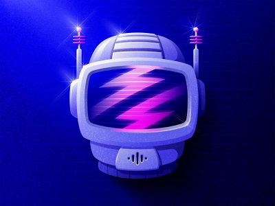 Cyber Helmet ⚡️ PPE blade runner daft punk david bowie astronaut science fiction scifi synthwave synth retrowave cyberpunk badge design retro outer space adobe illustrator illustrator vector icon illustration san diego