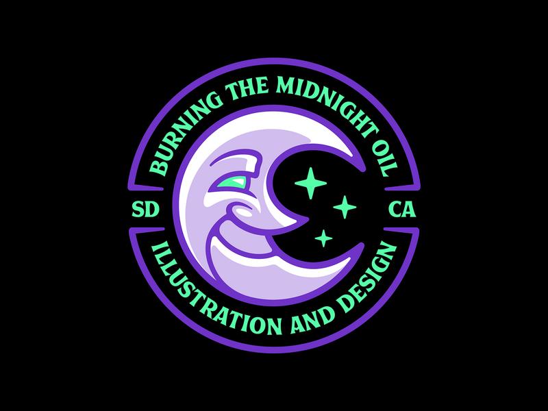 Crescent Moon Icon🌜 Badge Design