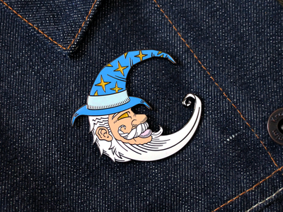 The Crescent Wizard (Enamel Pin)