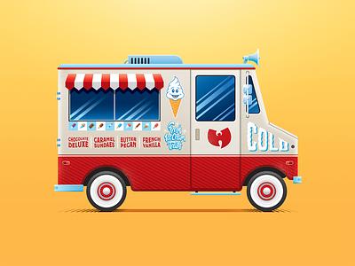 Ice Cream Truck wutang illustration adobe illustrator van truck san diego hip-hop ice cream truck ice cream only built 4 cuban linx raekwon wu-tang