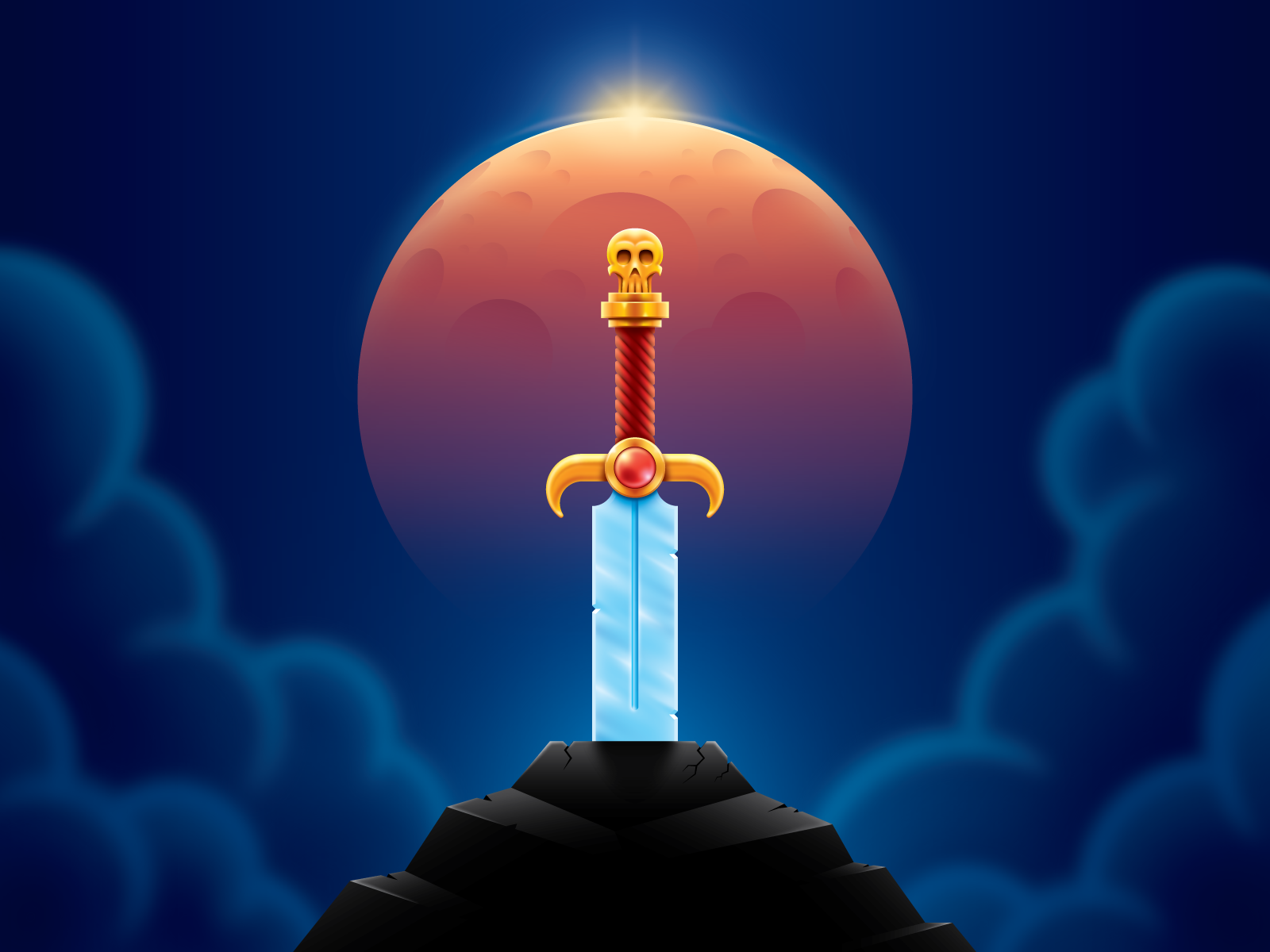 Dribbble Sword In The Stone Final Png By Jarod Octon