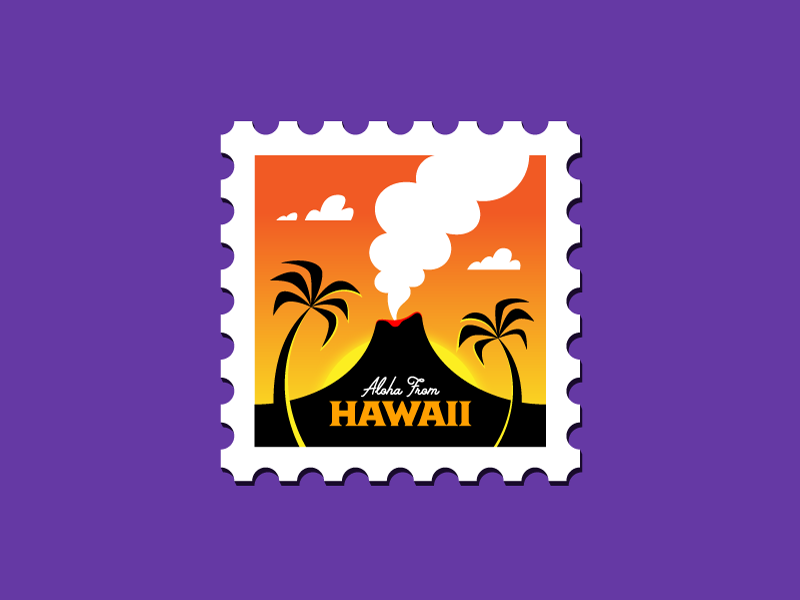 Hawaii Stamp By Jarod Octon
