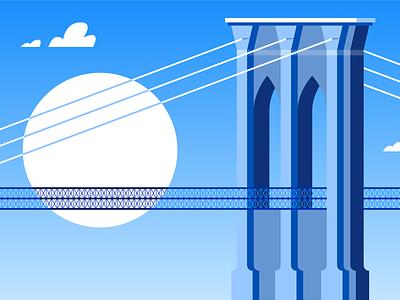 Brooklyn Bridge freelance designer nyc bridges flat  design brooklyn brooklyn bridge new yorker new york illustrator adobe illustrator vector illustration