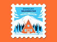 Mt. Rainier Stamp