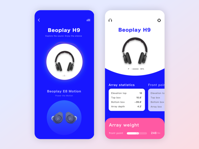 Wireless Bluetooth Headset GUI ux design icon ui app