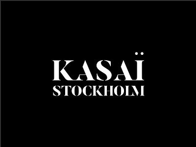 Kasai Stockholm Wordmark elegant logo letter sophisticated wordmark logo design studio simple logo symbol icon branding freelance logo design logo design logo