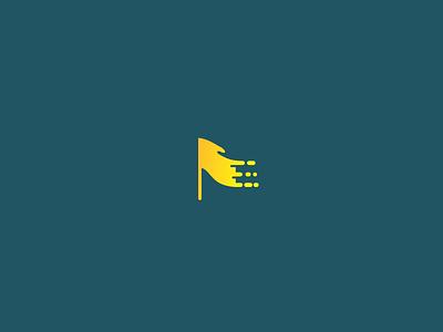 Digital Flag technology logo freelance logo designer pixel startup flow logo mark abstract icon flag simple logo logo design studio branding