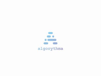 Algorythma data tech technology logo design algorythma