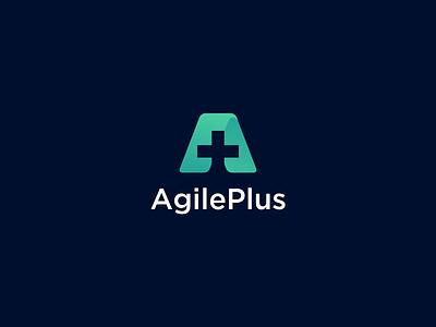 Logo Design for Insurance - Agile Plus plus a logo a letter mark icon turquoise care health insurance logo simple