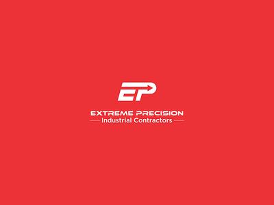 Simple Monogram with EP letter ep arrow red contractor p e logo icon monogram
