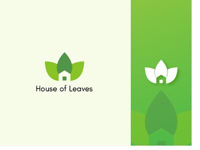 Logo Design for House Of Leaves freelance logo designer house leaves leaf logotype logodesign logo identity icon branding brand