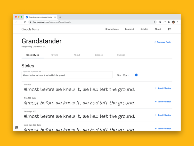 Grandstander is now on Google Fonts variable font open source typography