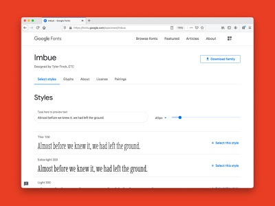 Imbue is now on Google Fonts open source google fonts free font fonts font typography type design
