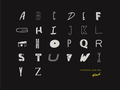 7 Years of Type dark fonts font typography