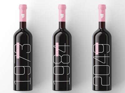 Cease - Now Available Everywhere print bottle wine mockup render tech font typeface