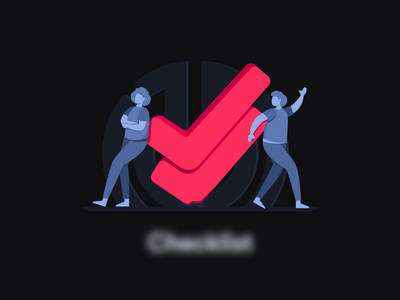 Something's Coming Up human checkmark illustration design project management productivity project