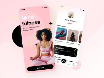 Concept: Mindfulness App weekly clean design fitness app yoga app mindfulness app design app ux ui sport fitness yoga