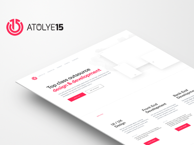 New Atolye15.com agency interface minimal layout outsource simple clean ux ui
