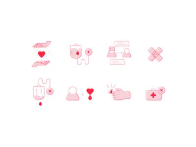 Kan Merkezi Illustration Icons