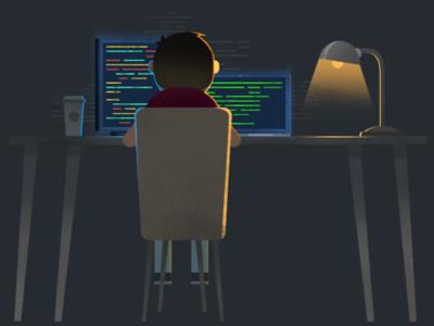 Shhh! The developer is working. development design ux ui atolye15 project work working nightshift developer